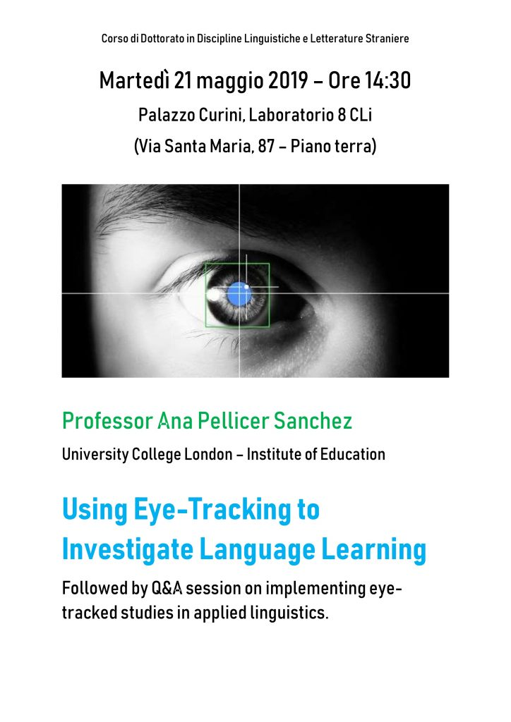Using Eye-Tracking to Investigate Language Learning: conferenza